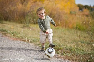 Xander Playing Soccer