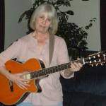 Cindy Playing her Nylon String Guitar